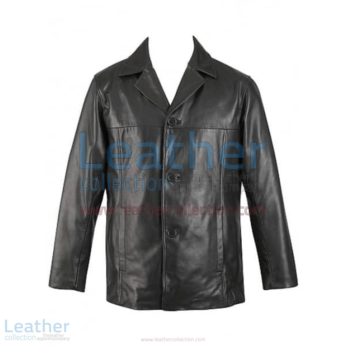 3 Button Mens Leather Blazer | 3 button blazer