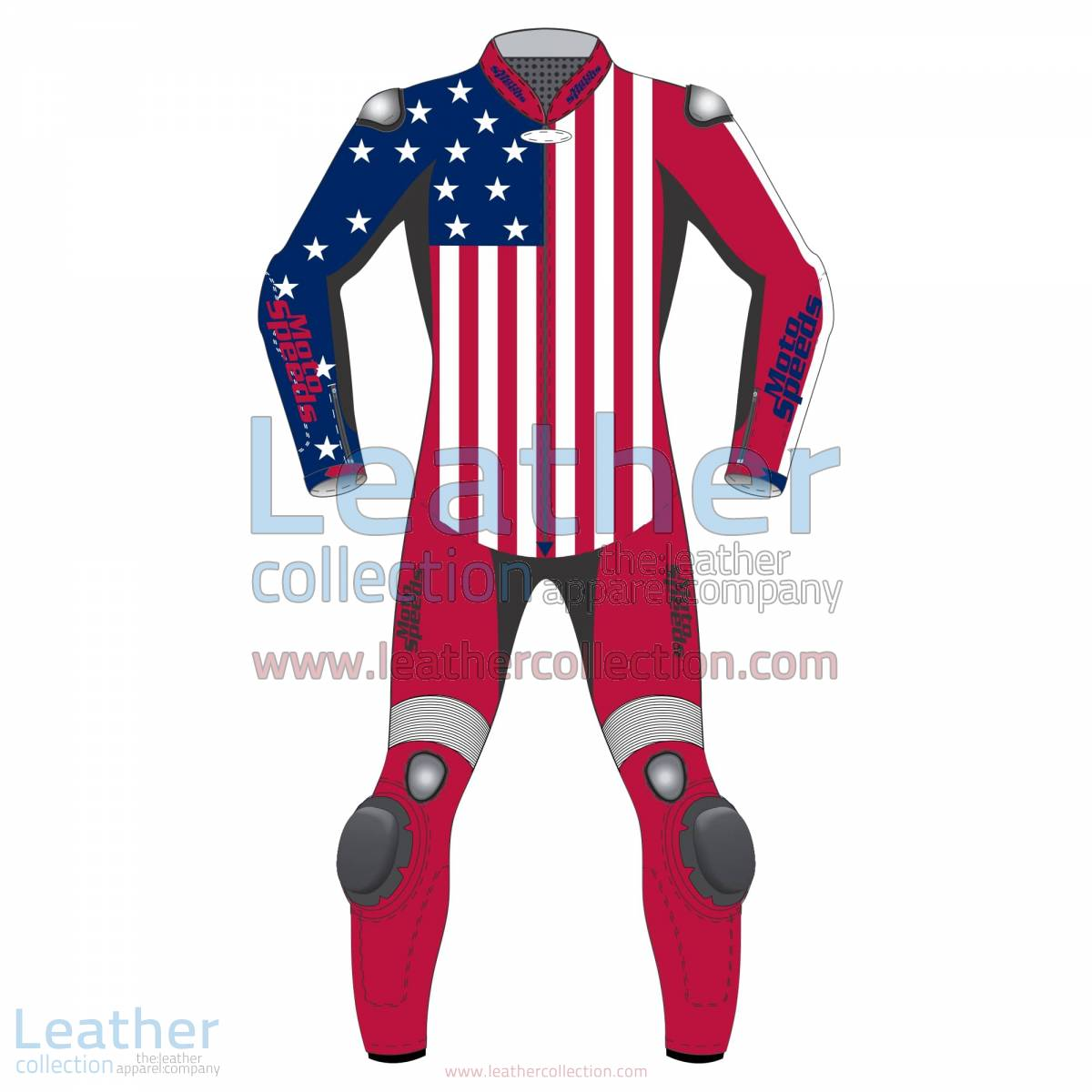 American Flag Leather Motorcycle Suit | leather motorcycle suit