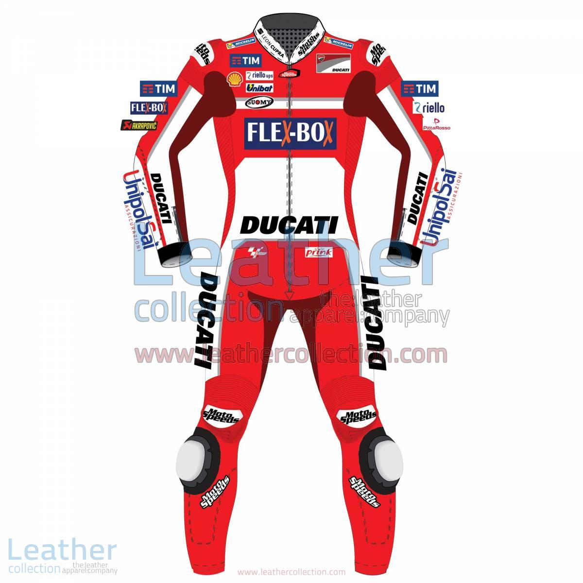 Andrea Dovizioso Ducati MotoGP 2017 Leather Suit | Ducati leather suit