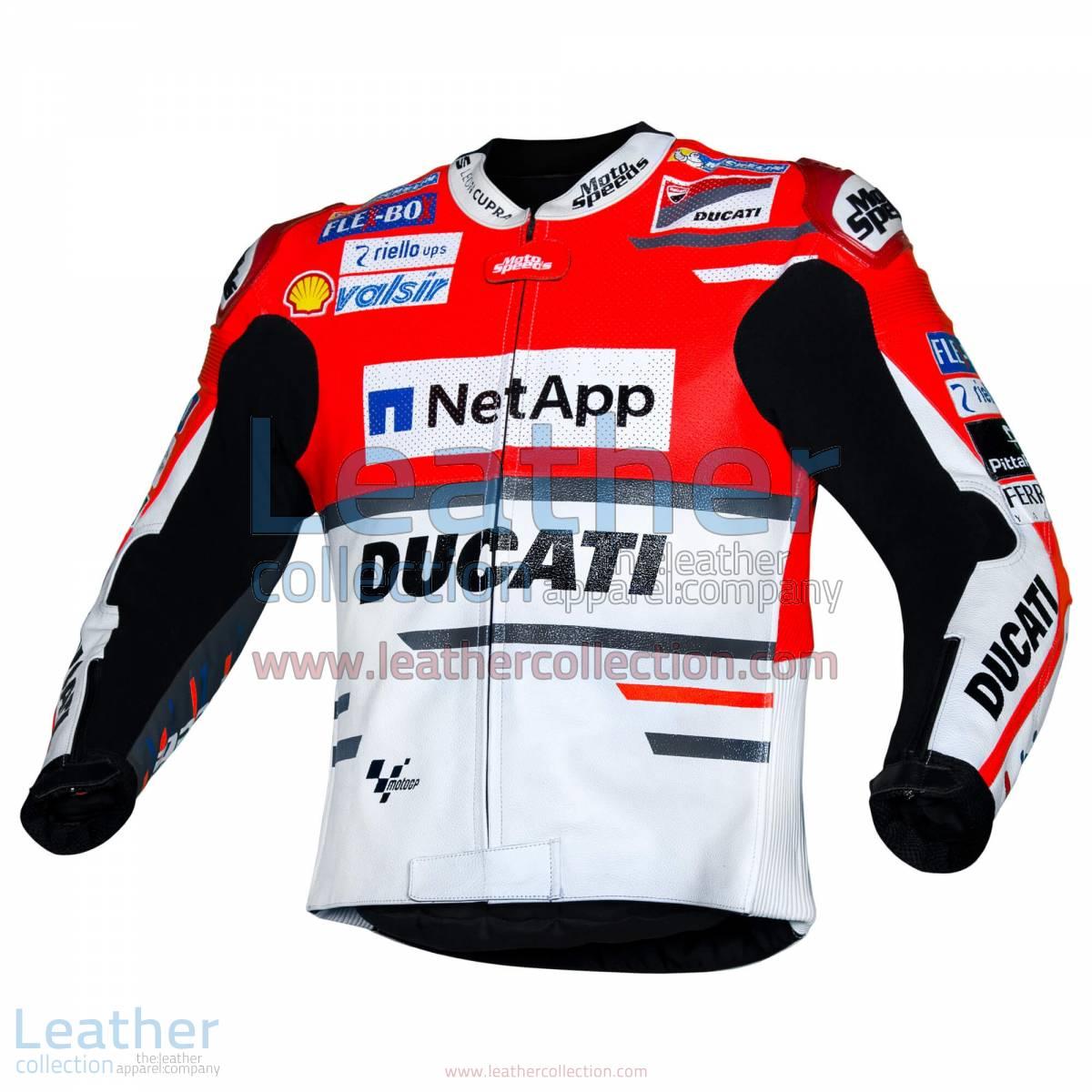Andrea Dovizioso Ducati MotoGP 2018 Leather Jacket | Andrea Dovizioso Ducati MotoGP 2018 Leather Jacket