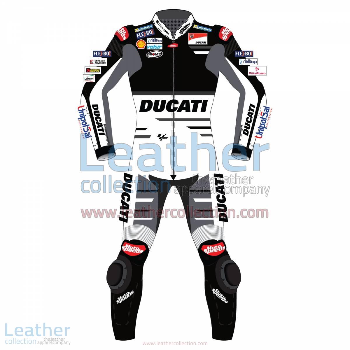 Andrea Dovizioso Ducati MotoGP 2018 Leather Suit Black | Andrea Dovizioso Ducati MotoGP 2018 Leather Suit Black
