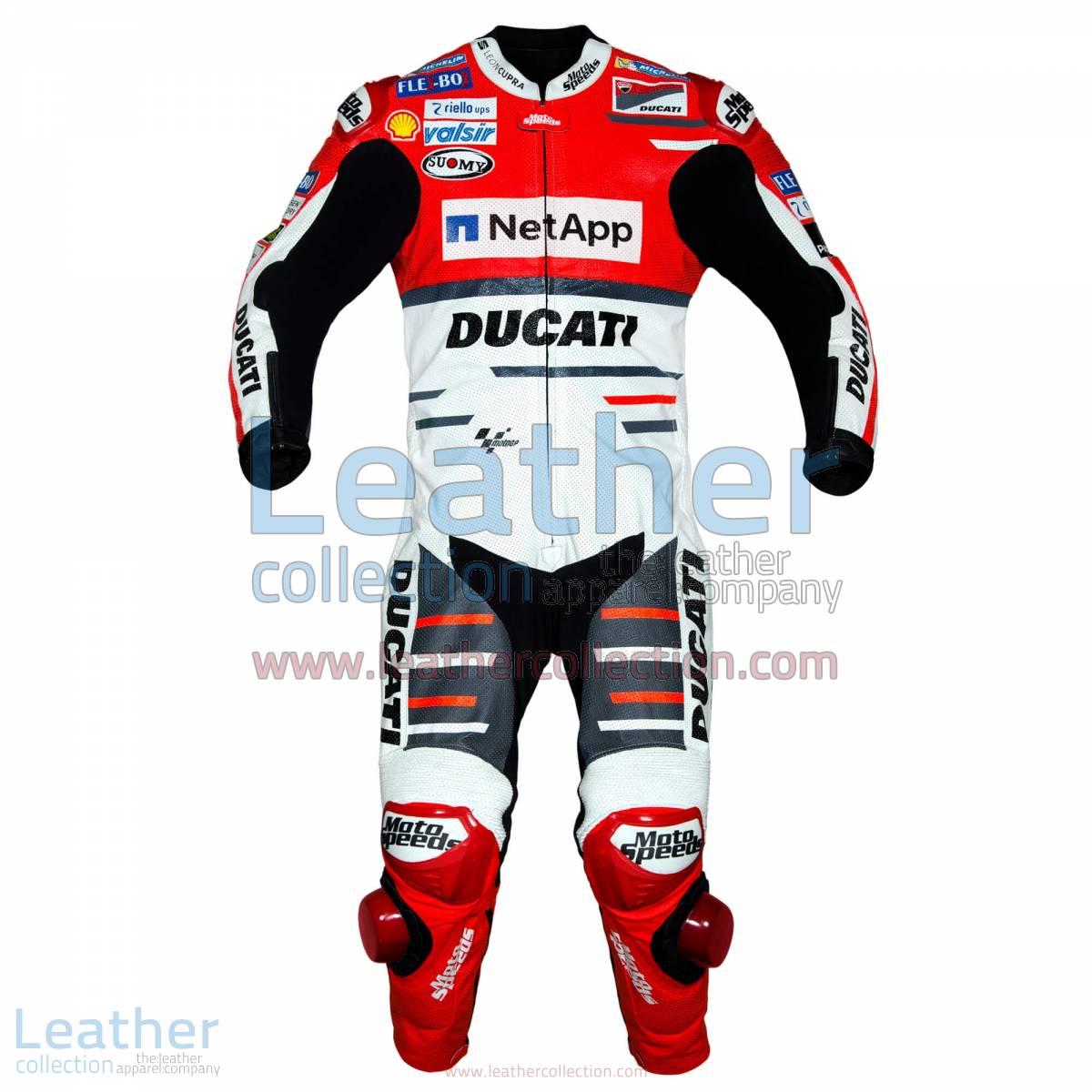 Andrea Dovizioso Ducati MotoGP 2018 Leather Suit | Andrea Dovizioso Ducati MotoGP 2018 Leather Suit