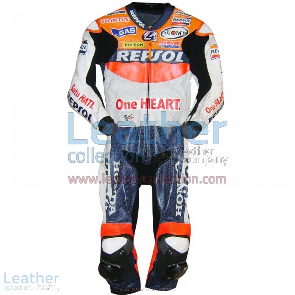 Andrea Dovizioso Repsol Honda 2010 MotoGP Leathers | repsol honda