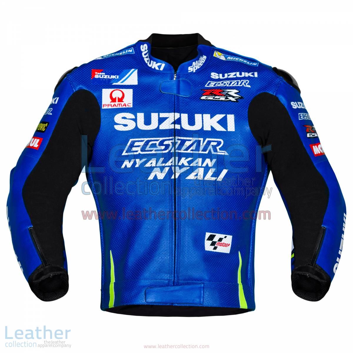 Andrea Iannone Suzuki MotoGP 2017 Leather Jacket   Andrea Iannone Suzuki MotoGP 2017 Leather Jacket
