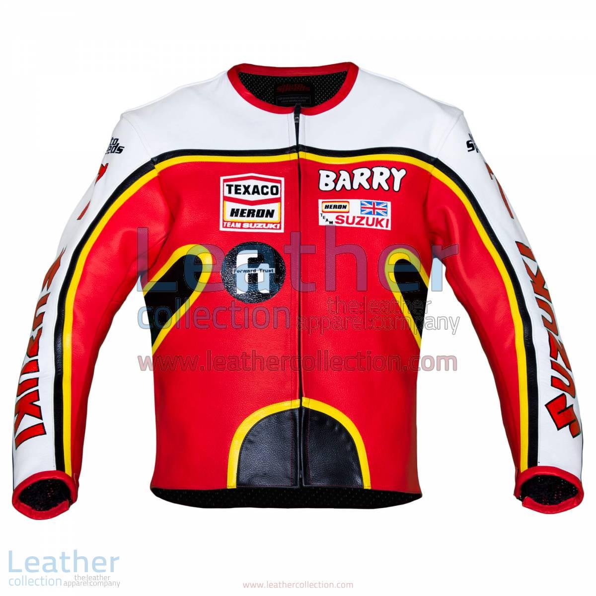 Barry Sheene Suzuki GP 1976 Leather Jacket   Barry Sheene Suzuki GP 1976 Leather Jacket