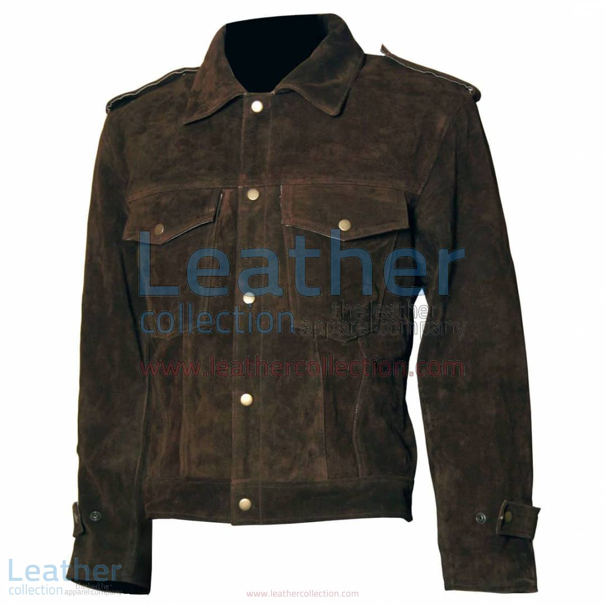 Beatles John Lennon Rubber Soul Brown Suede Leather Jacket | brown leather jacket