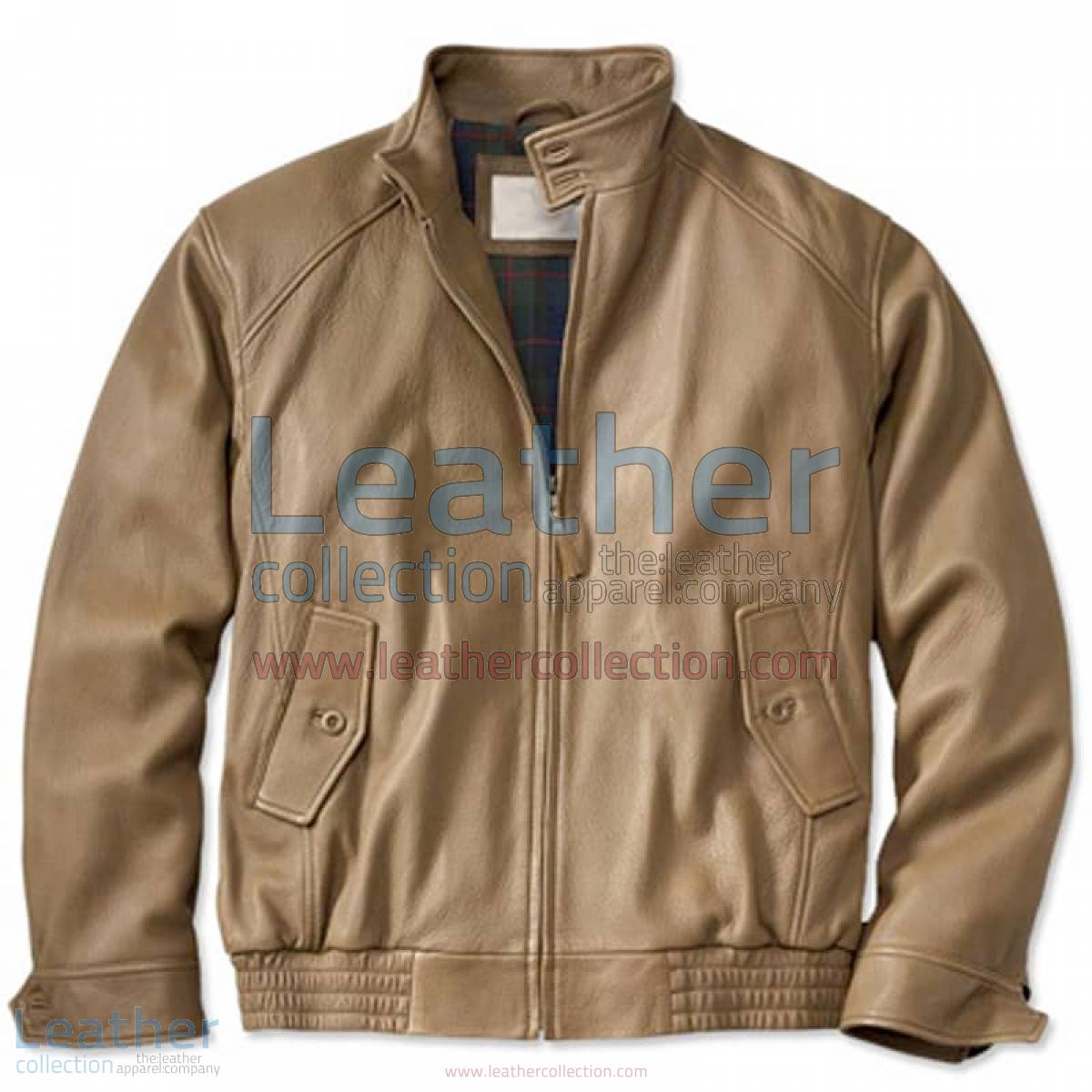 Beige Leather Bomber Jacket | beige bomber jacket