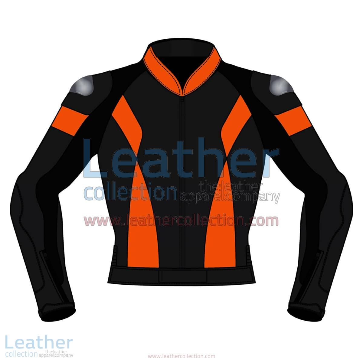 Bi Color Motorbike Leather Jacket For Men | Bi Color motorcycle Leather Jacket For Men