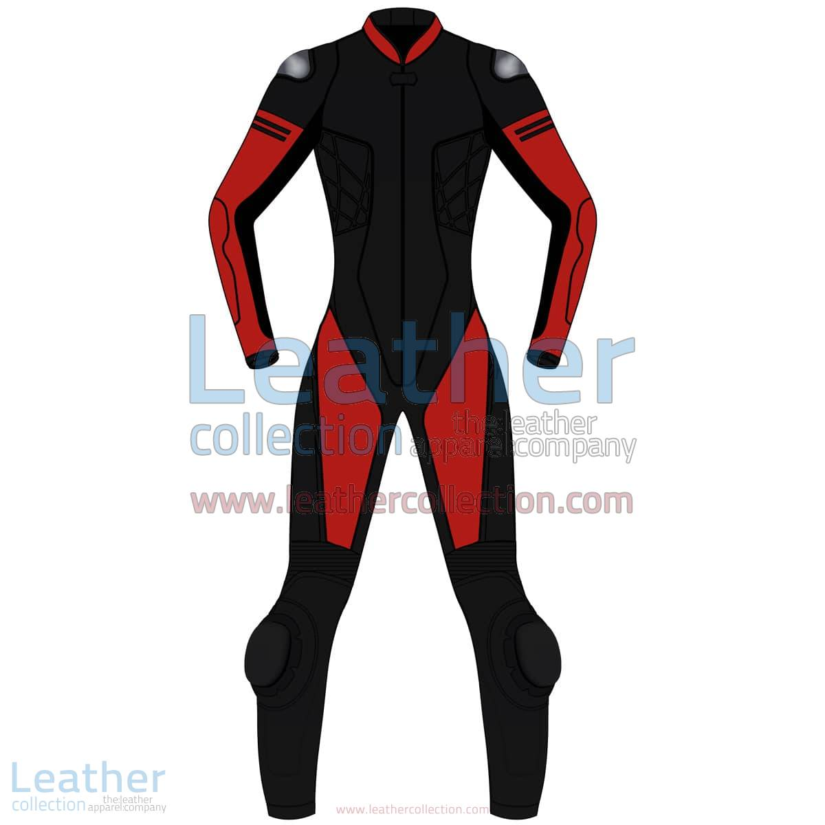 Bi Color One-Piece Motorbike Leather Suit For Women | Bi Color One-Piece motorcycle Leather Suit For Women