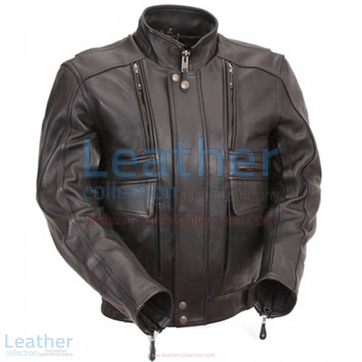 Biker Naked Leather Jacket with Side Stretch Panels | naked leather jacket