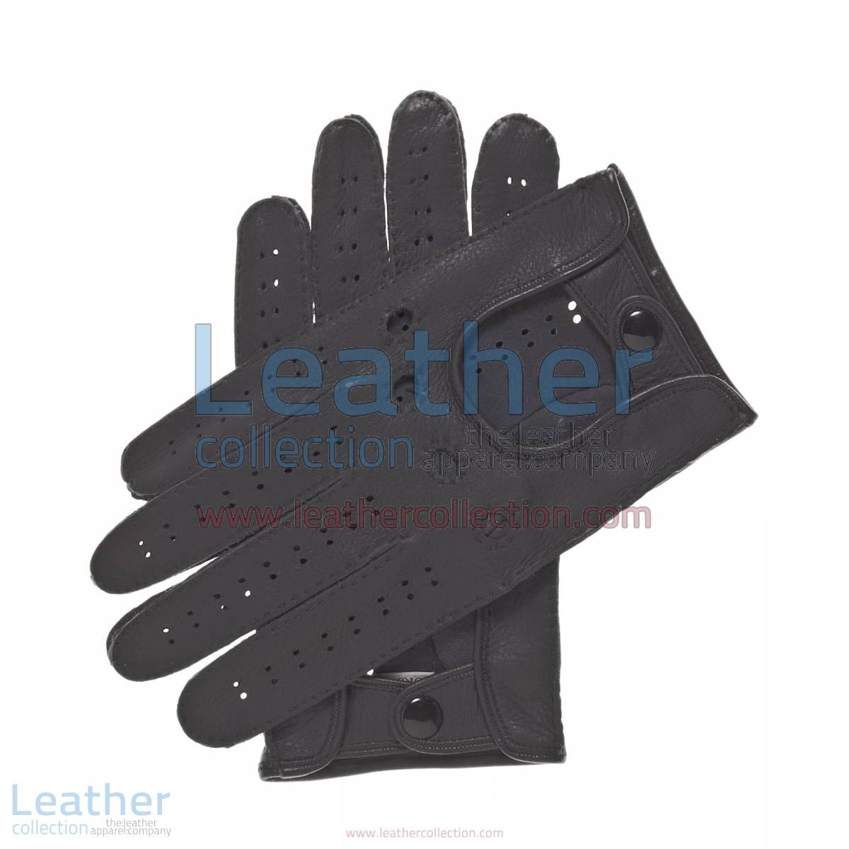 Black Driving Leather Gloves | black driving gloves