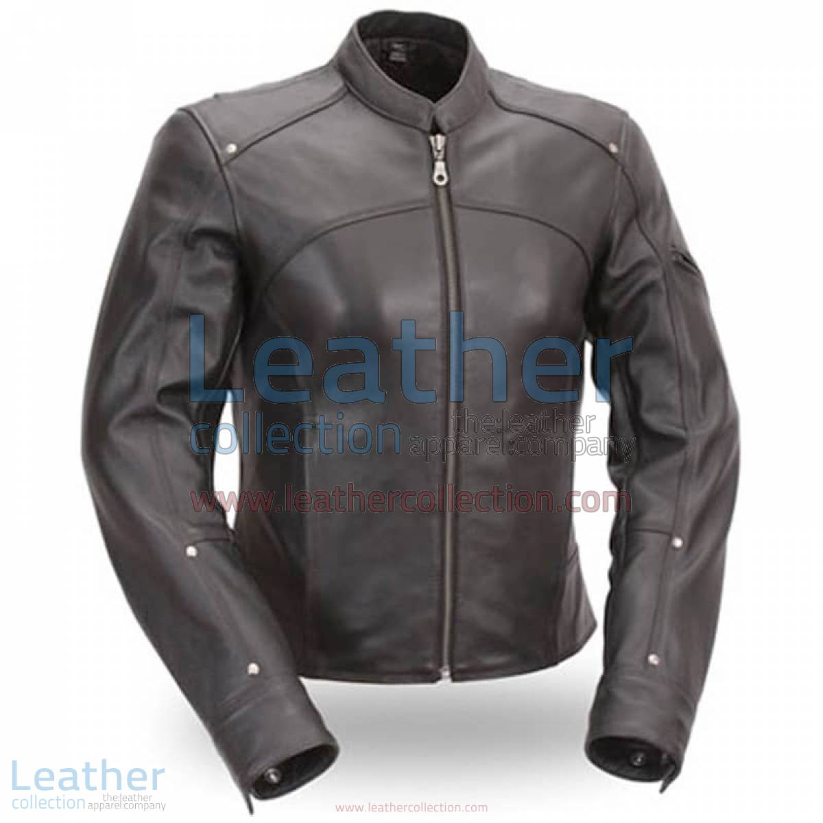 Black Leather Touring Motorcycle Jacket | touring motorcycle jacket