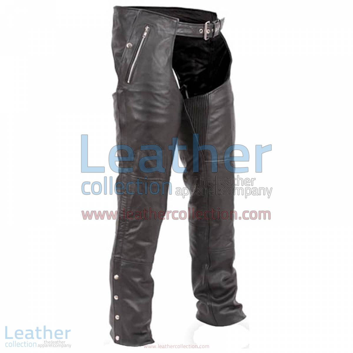 Black Premium Biker Leather Chaps | leather chaps