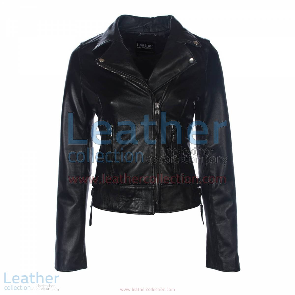 Black Vintage Biker Leather Jacket | vintage biker jacket