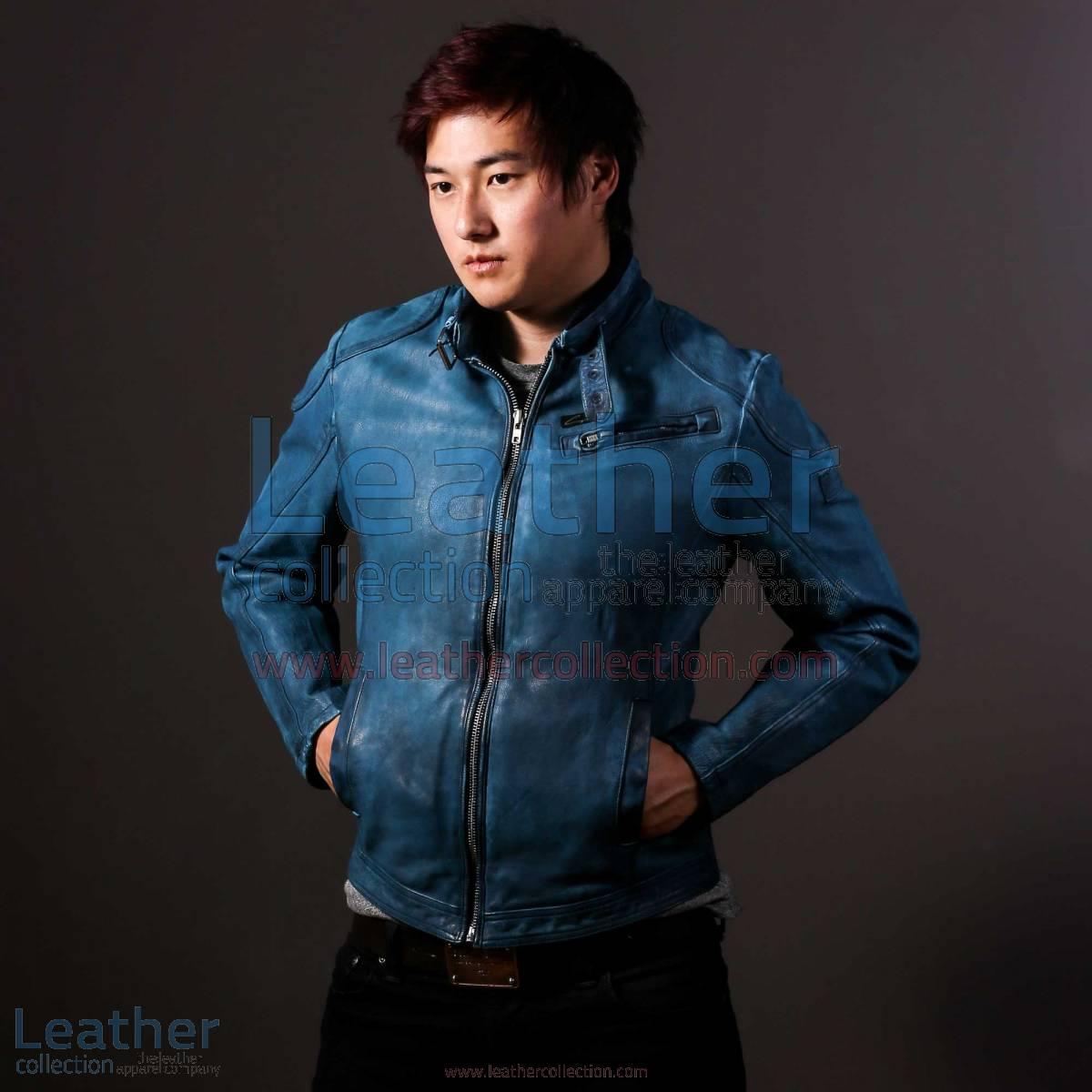 Blue Jazz Leather Jacket for Men | jazz jacket