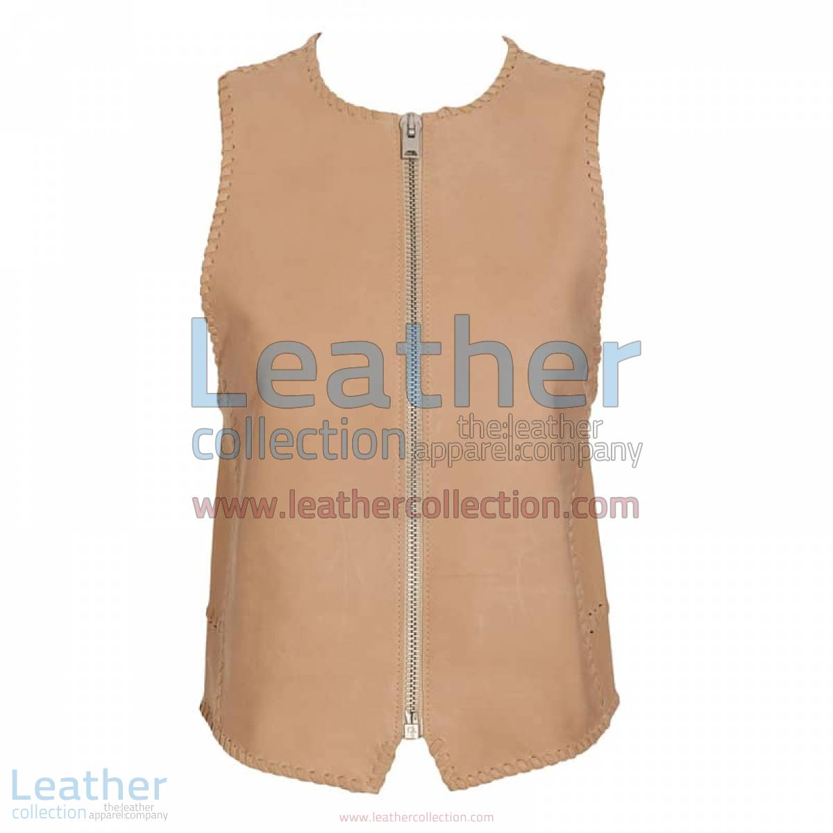 Braided Fashion Leather Vest   braided leather vest