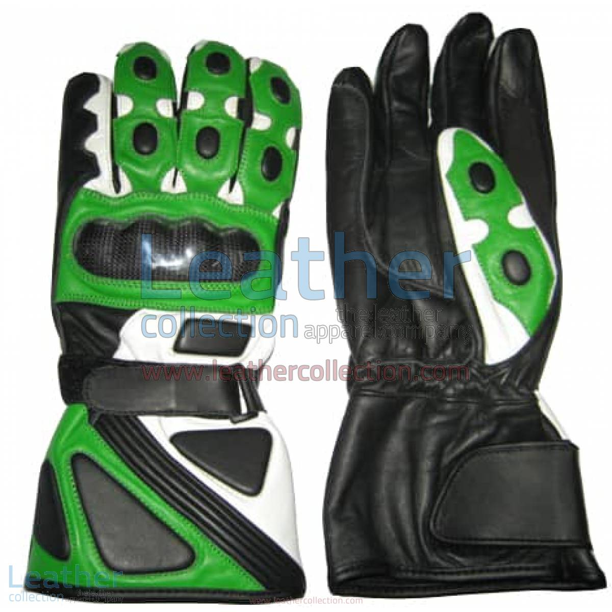 Bravo Green Motorcycle Race Gloves | motorcycle race gloves