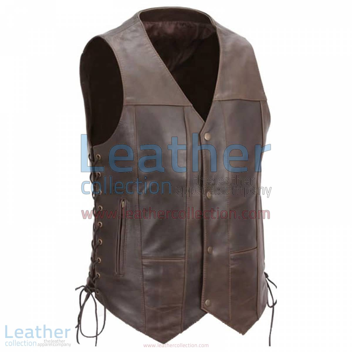 Brown Premium Leather Motorcycle Vest | brown leather vest
