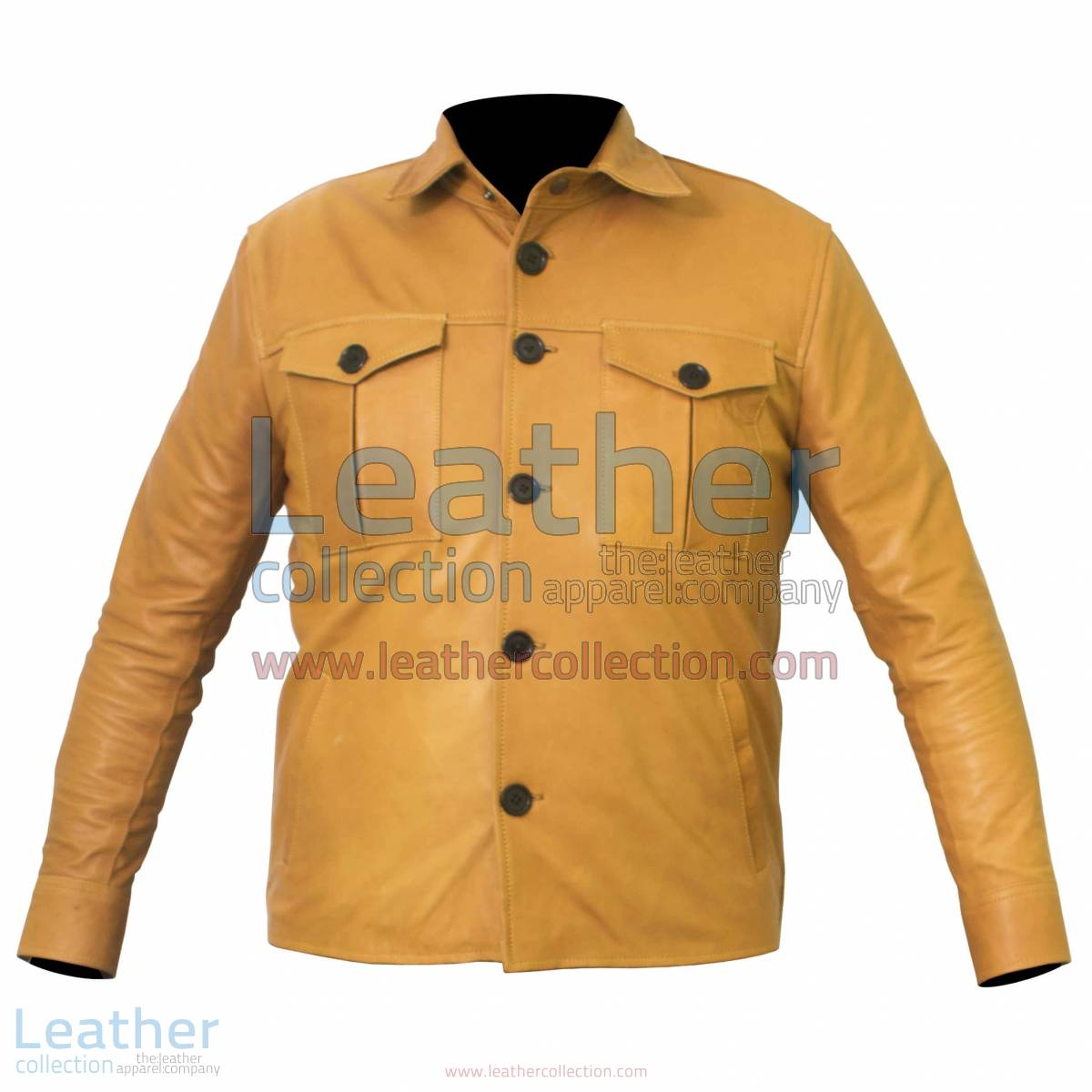 Buttoned Front Lamb Skin Shirt Style Jacket | shirt jacket
