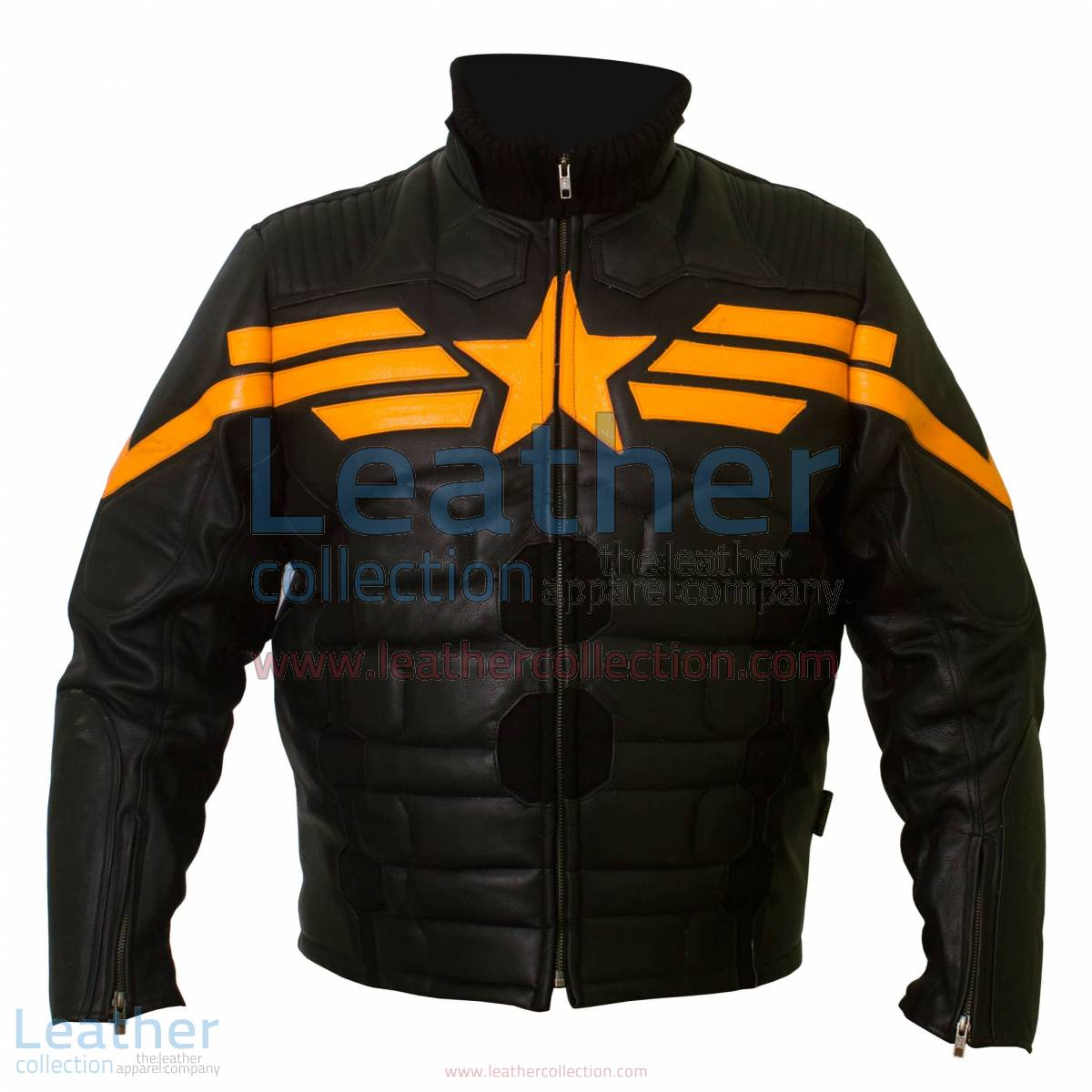 Captain America Black Biker Leather Jacket | captain america leather jacket