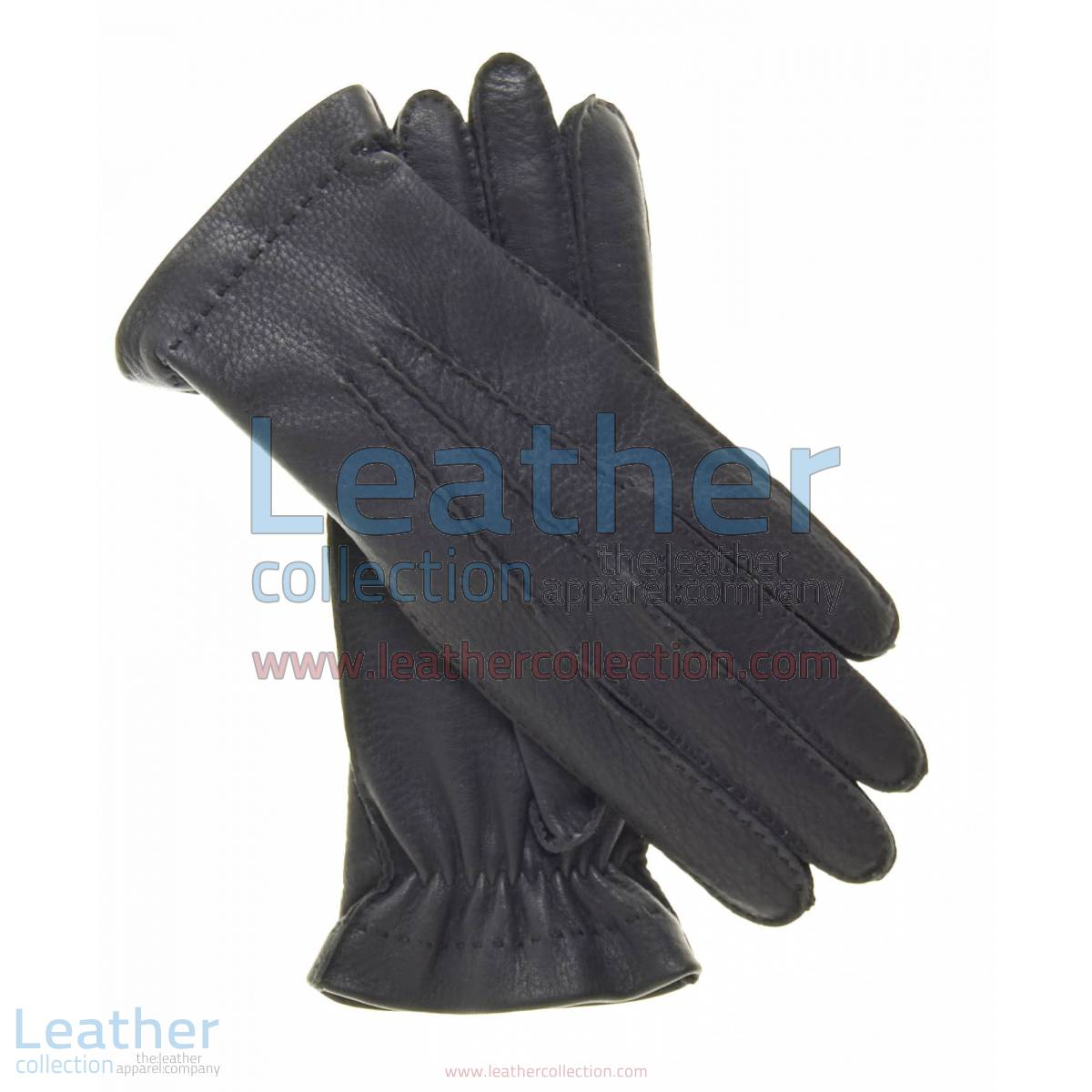 Cashmere Wool Lined Black Leather Gloves | wool lined gloves