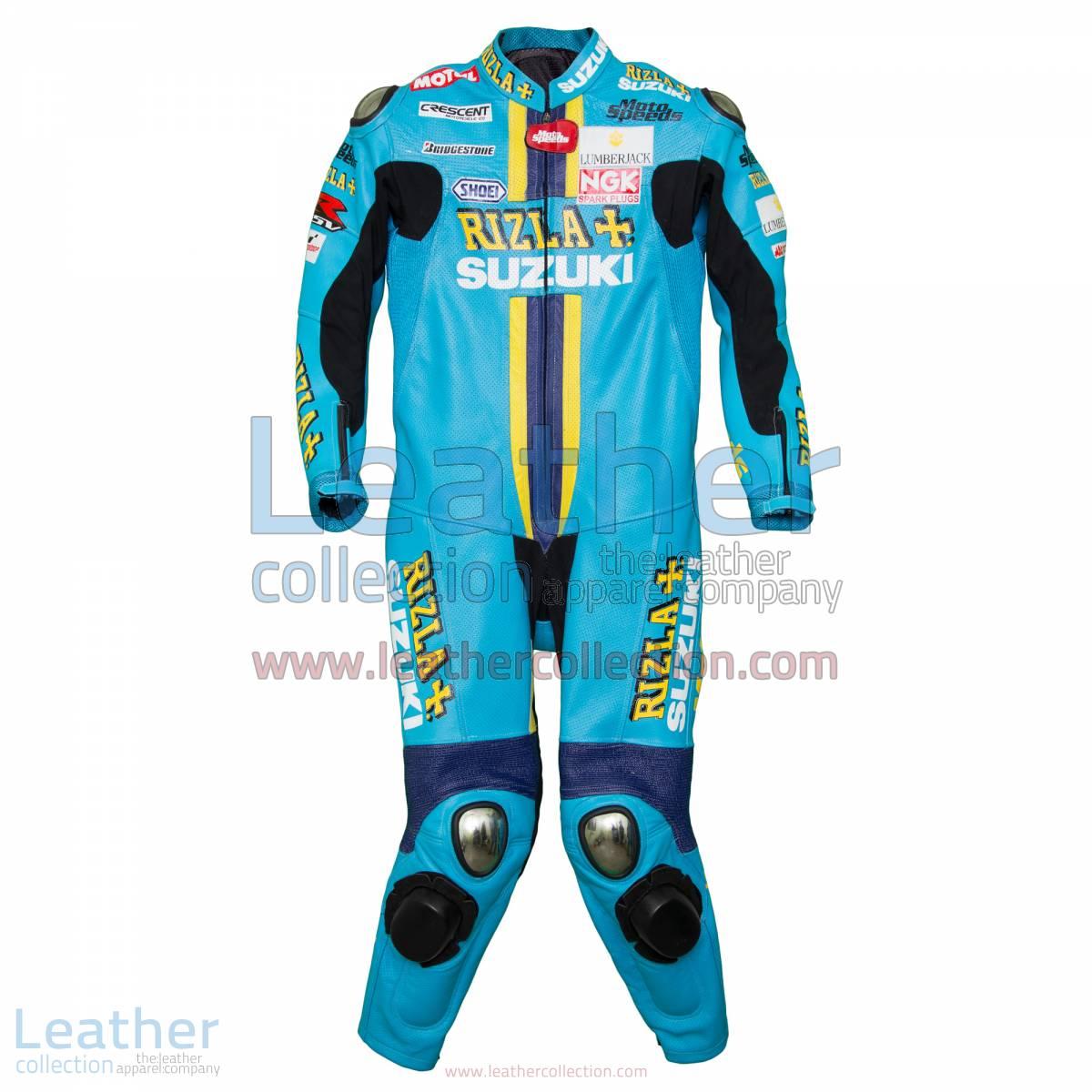 Chris Vermeulen Rizla Suzuki 2008 MotoGP Leathers | motogp leathers