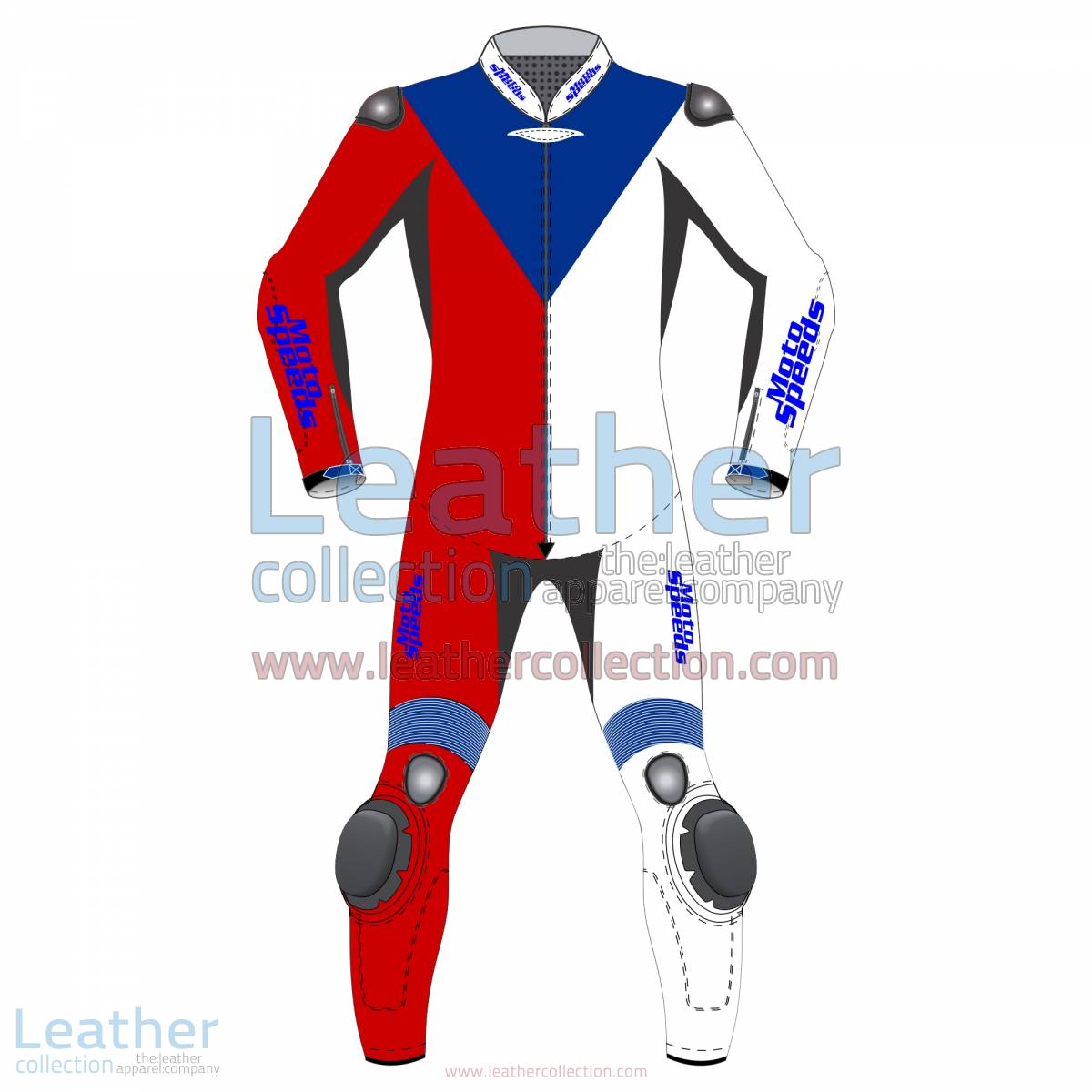 Czech Republic Flag Moto Leathers | moto leathers