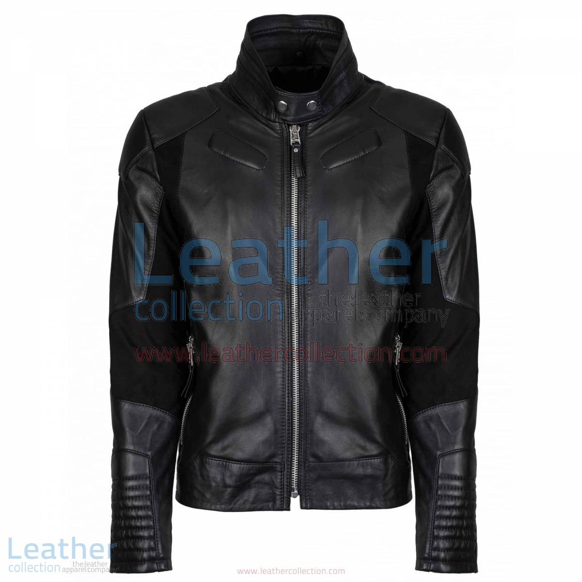 Deuce Classic Biker Leather Jacket Black | classic biker jacket