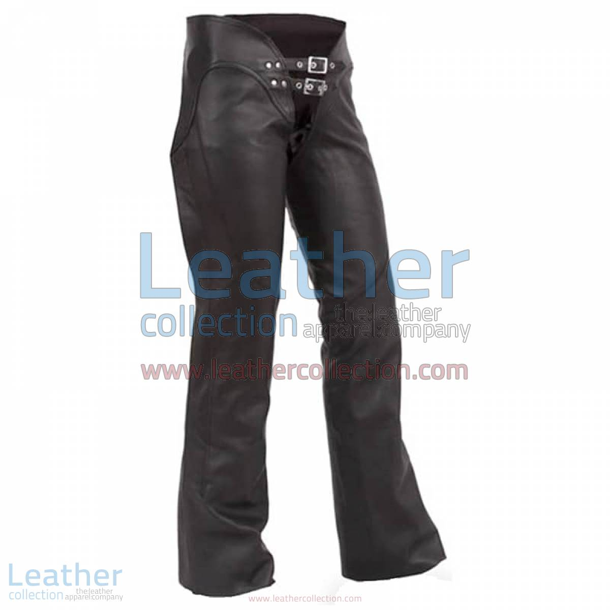 Double Belted Ladies Leather Chaps | ladies leather chaps