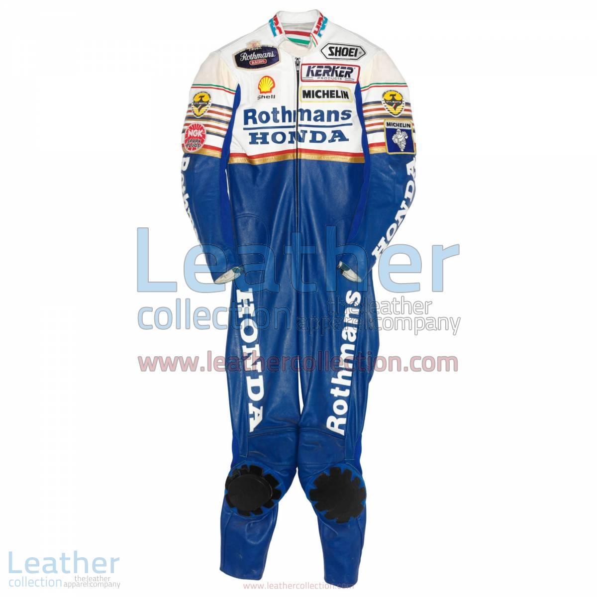 Eddie Lawson Rothmans honda GP 1989 Leathers | honda leathers