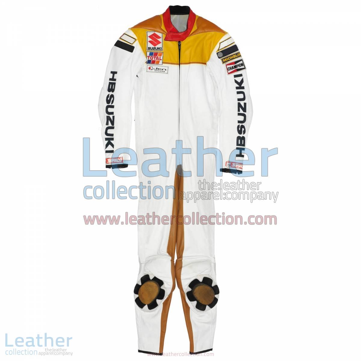 Franco Uncini Suzuki GP 1982 Leather Suit   suzuki leather suit