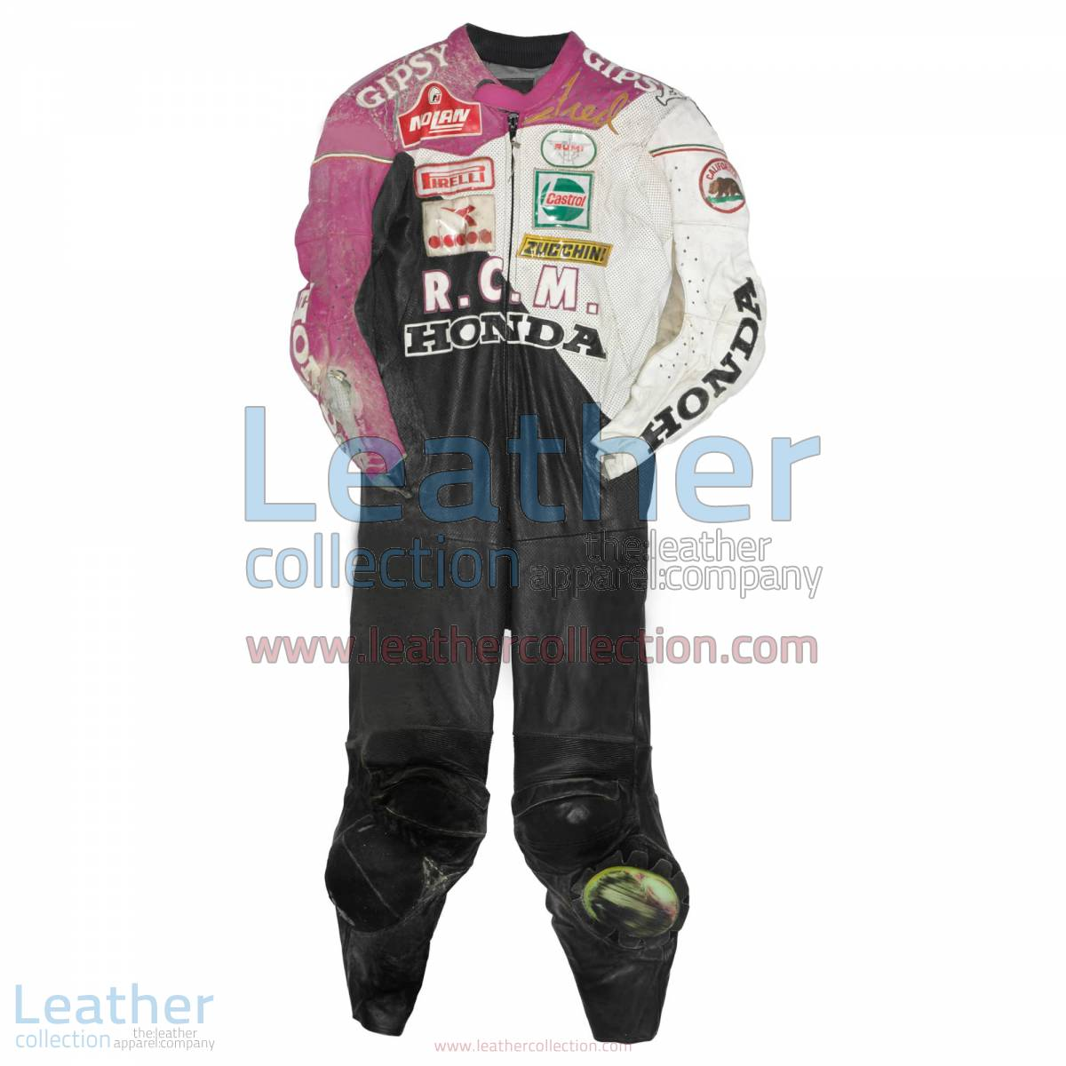 Fred Merkel Honda WSBK 1989 Leather Suit | honda leather suit