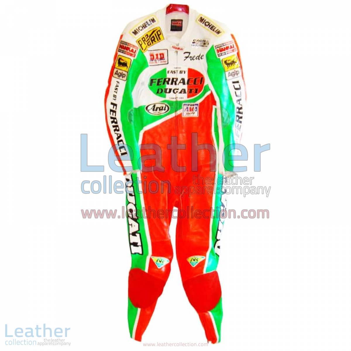 Freddie Spencer Ducati Corse AMA leathers | ducati corse