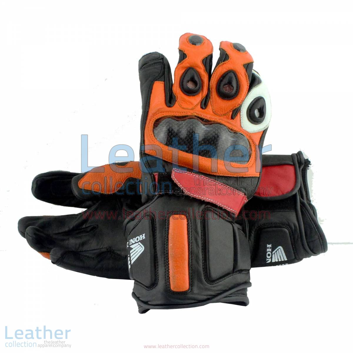 Honda Repsol Leather Motorbike Gloves | honda gloves