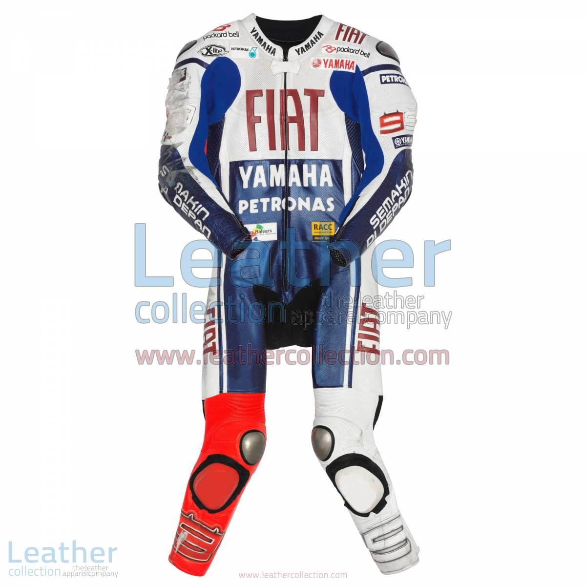 Jorge Lorenzo Yamaha Fiat MotoGP 2010 Leathers | Yamaha Fiat