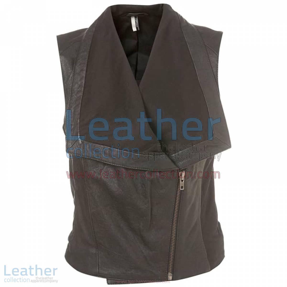 Ladies Fashion Leather Vest | fashion vest