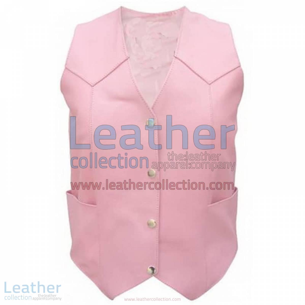 Ladies Pink Basic Plain Vest | ladies pink vest
