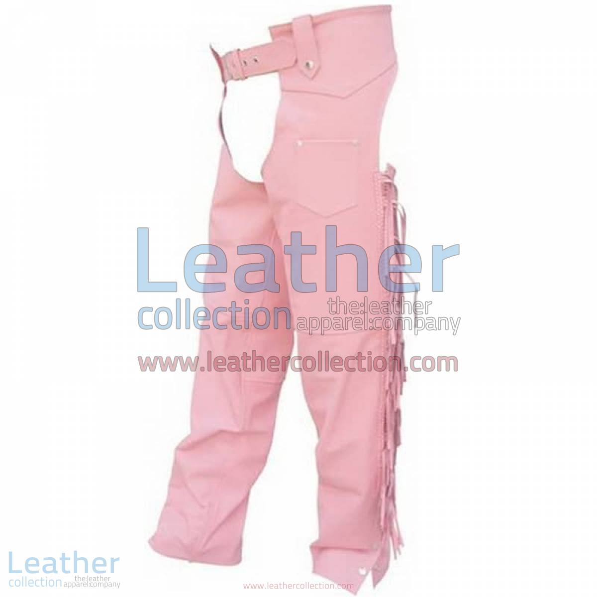 Ladies Pink Braided Leather Chaps | pink leather chaps