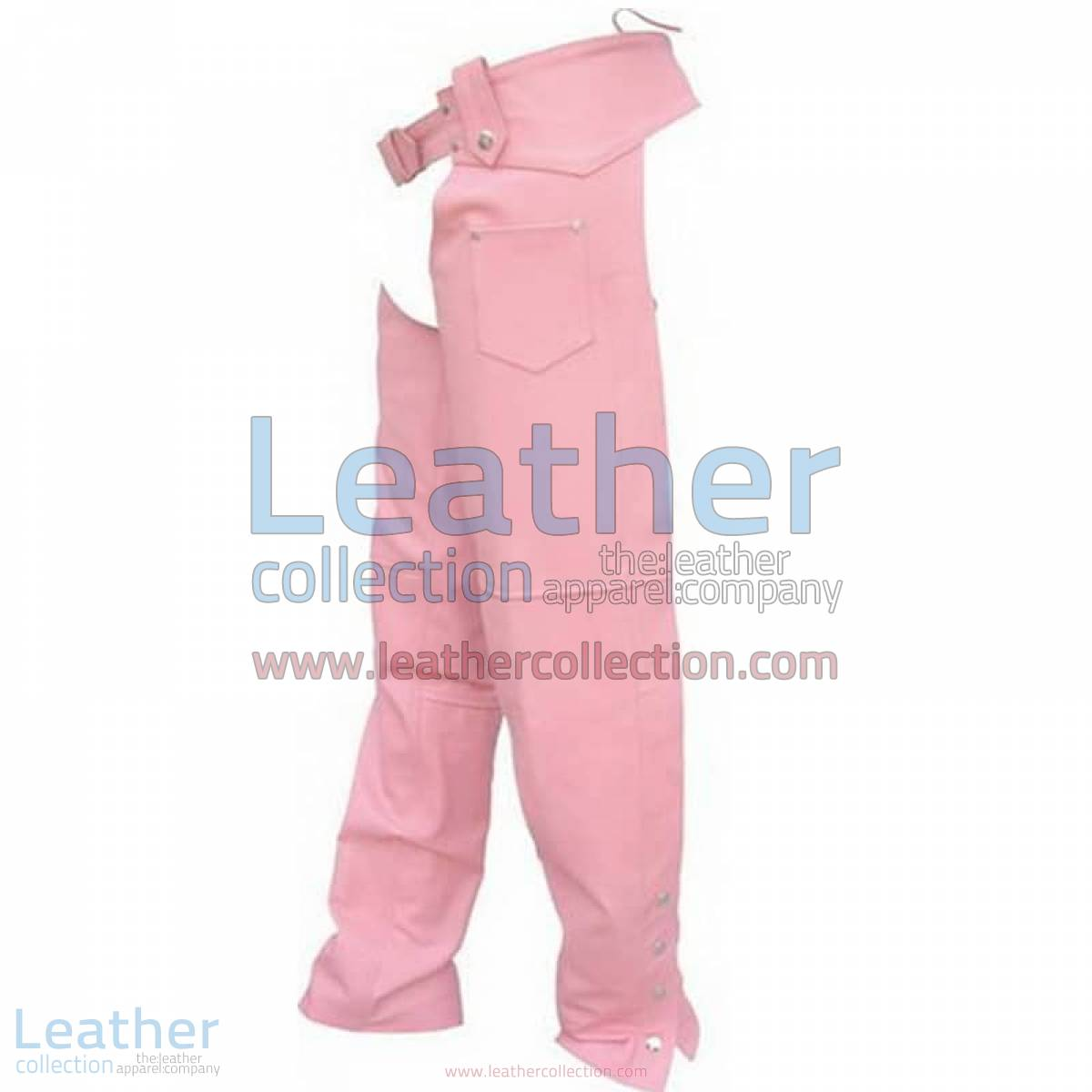 Ladies Pink Leather Chaps | ladies leather chaps