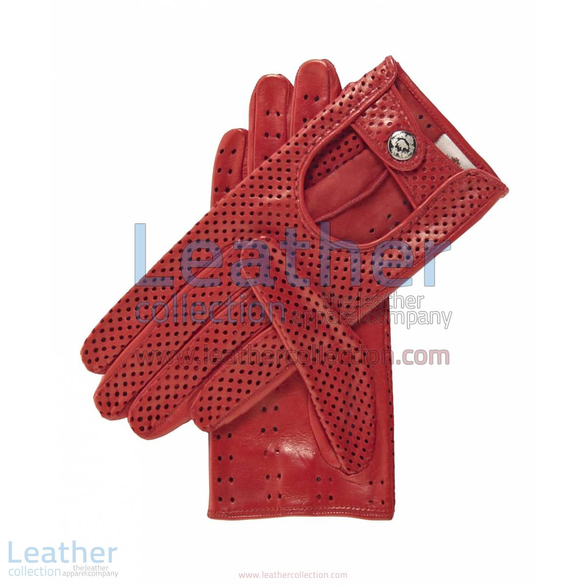 Ladies Summer Ventilated Red Driving Gloves | summer driving gloves