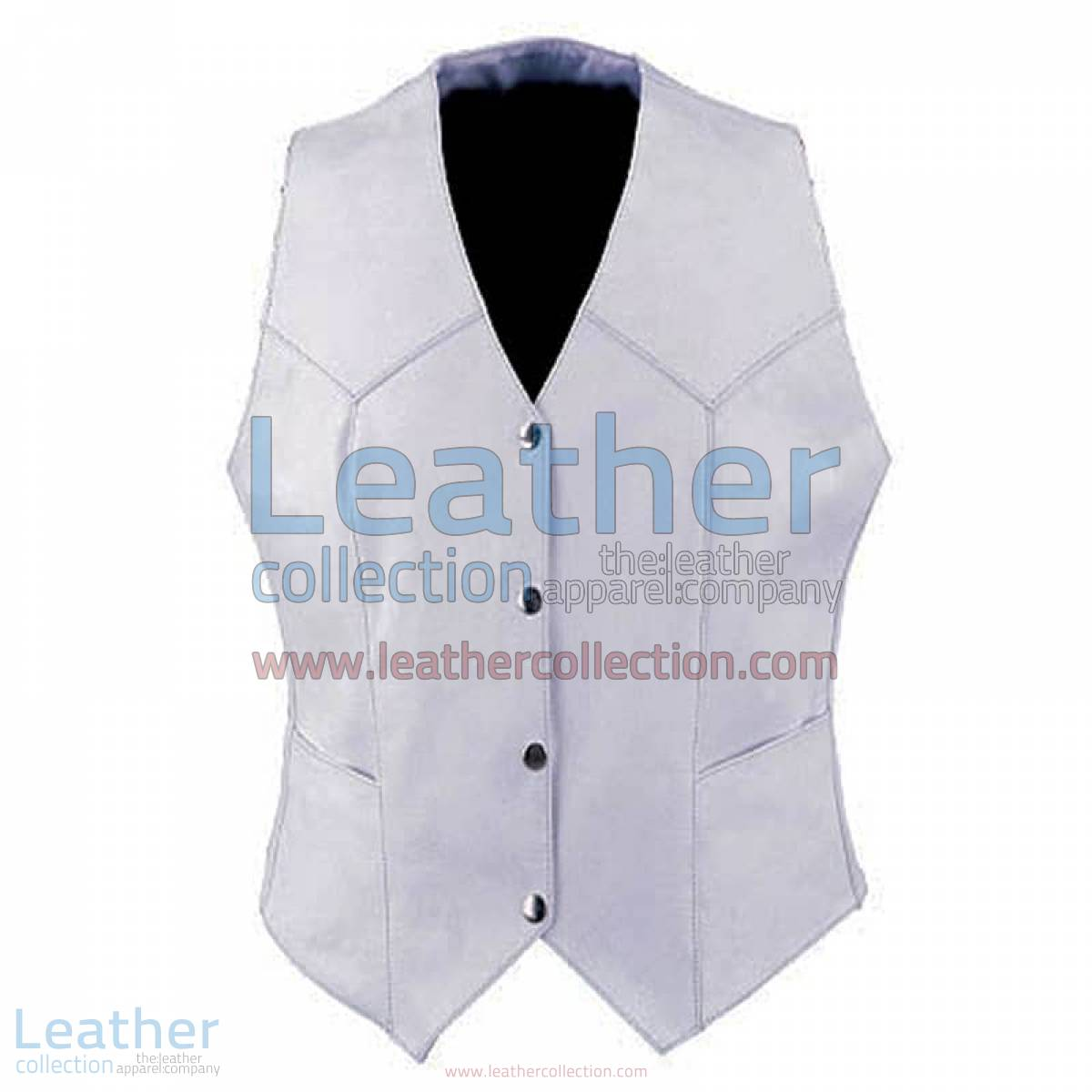 Ladies Vintage White Fashion Leather Vest | vintage vest