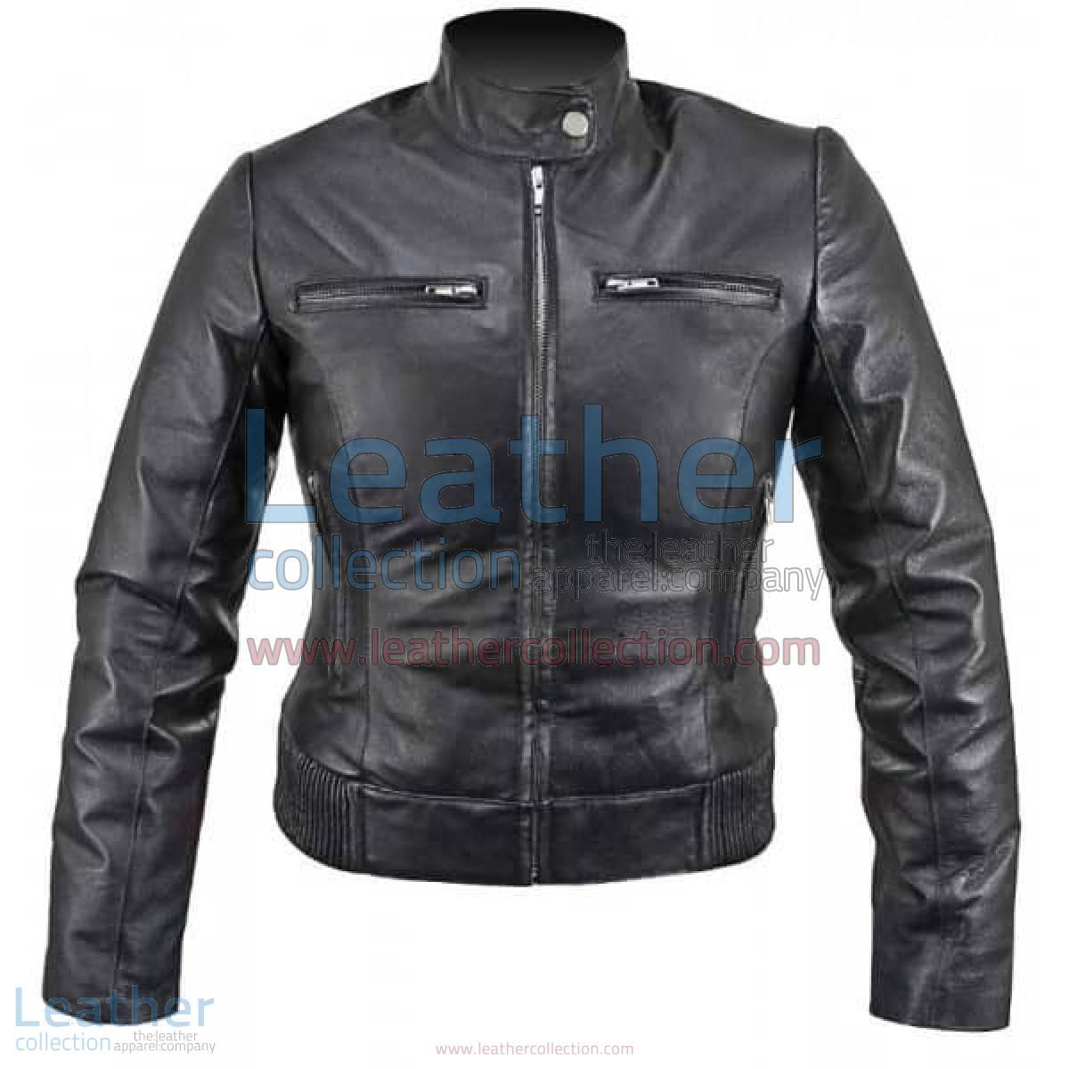 Ladies Waist Length Leather Jacket | waist length jacket