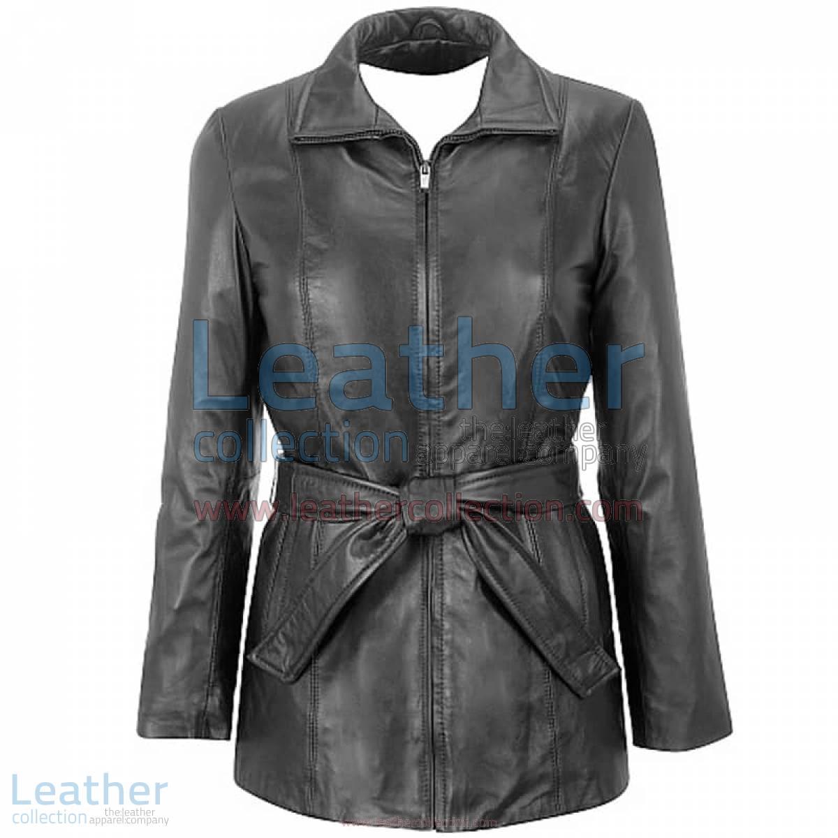 Lambskin Belted Hipster Coat | hipster coat