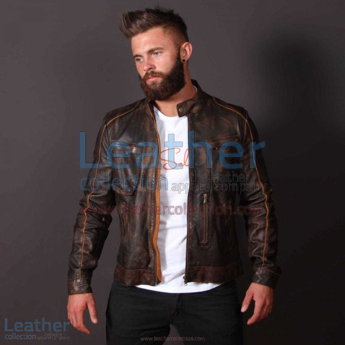 Leather Outlaw Jacket for Men | outlaw jacket