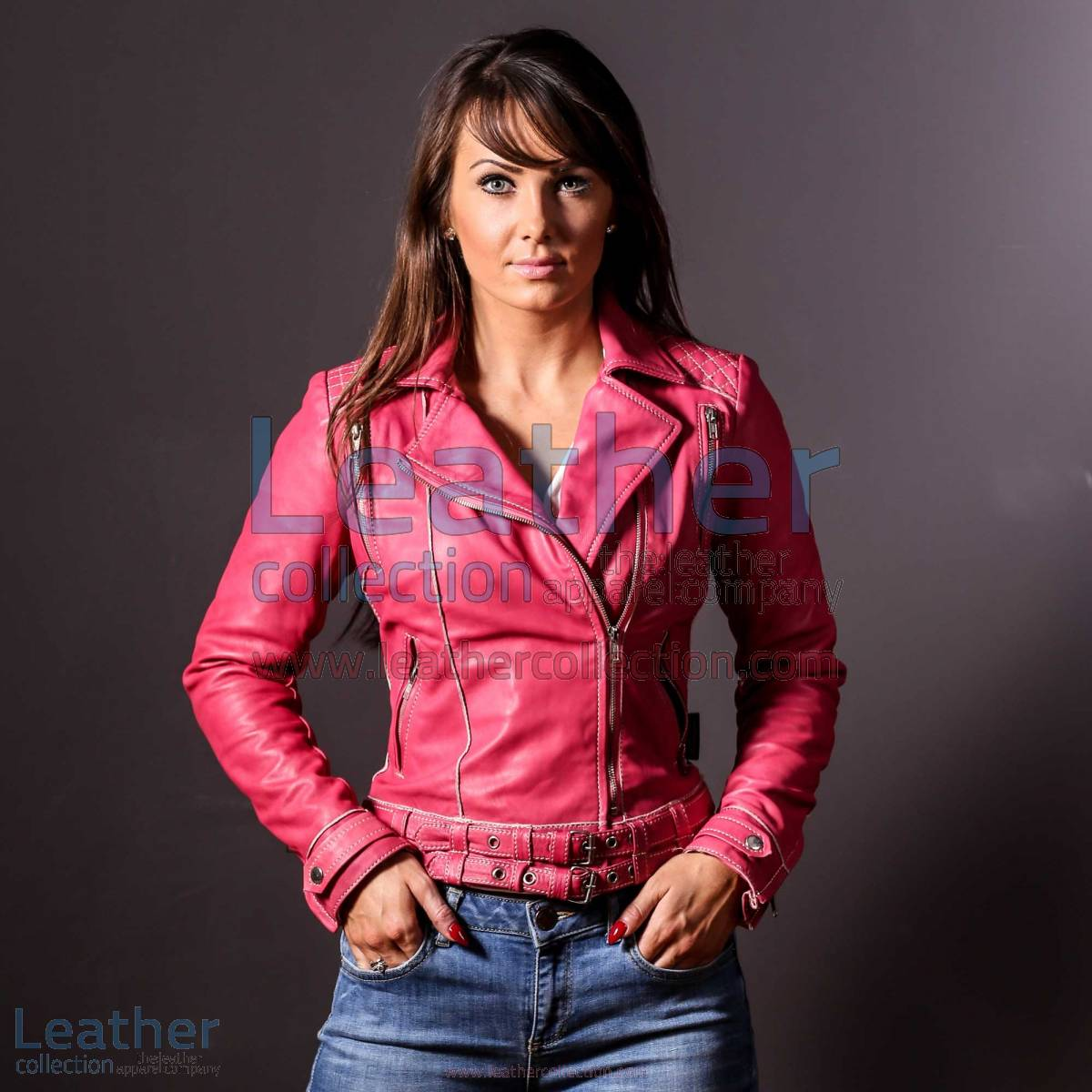 Leather Pink Women Jacket | pink women jacket