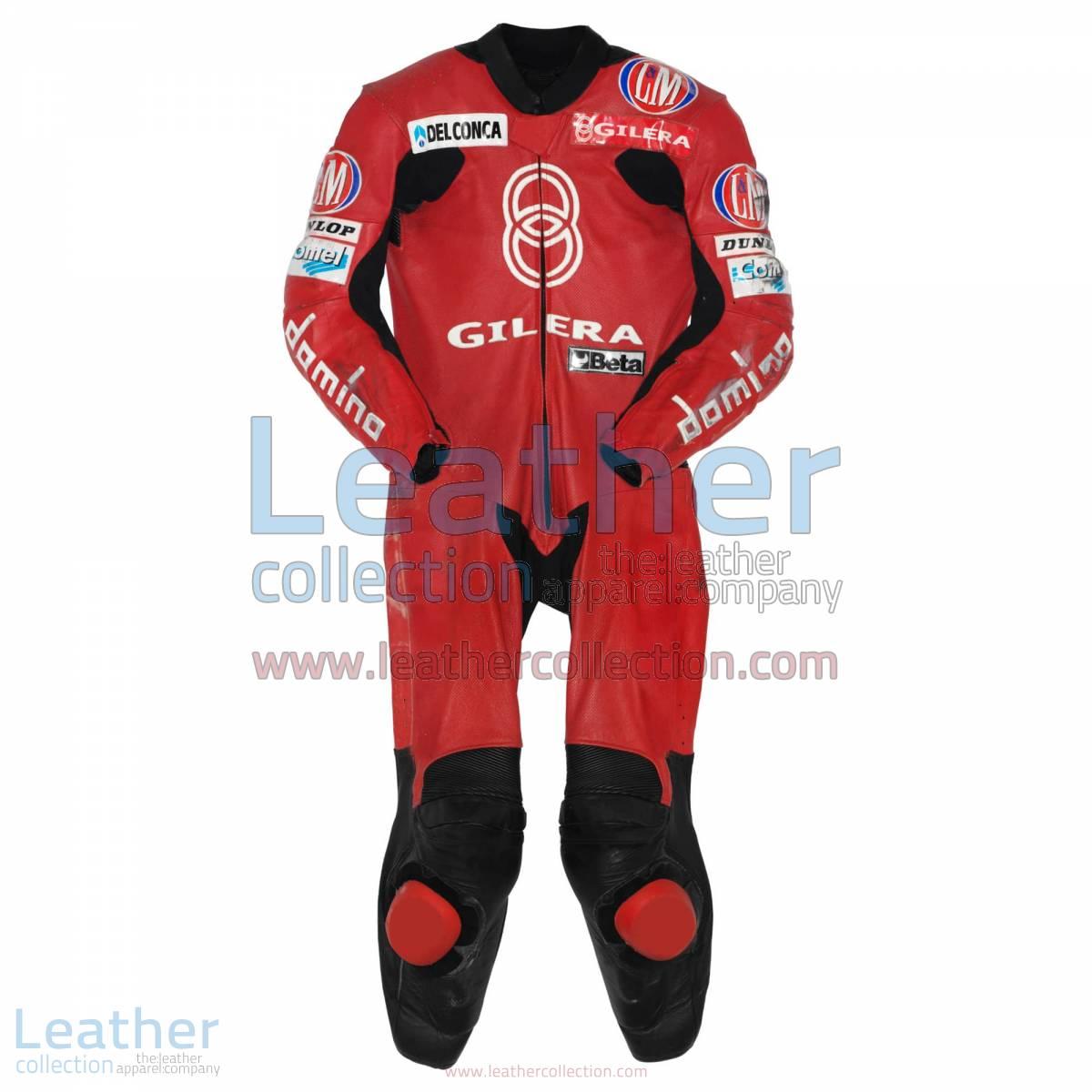 Manuel Poggiali Gilera Motorcycle Race Suit GP 2001 | motorcycle race suit