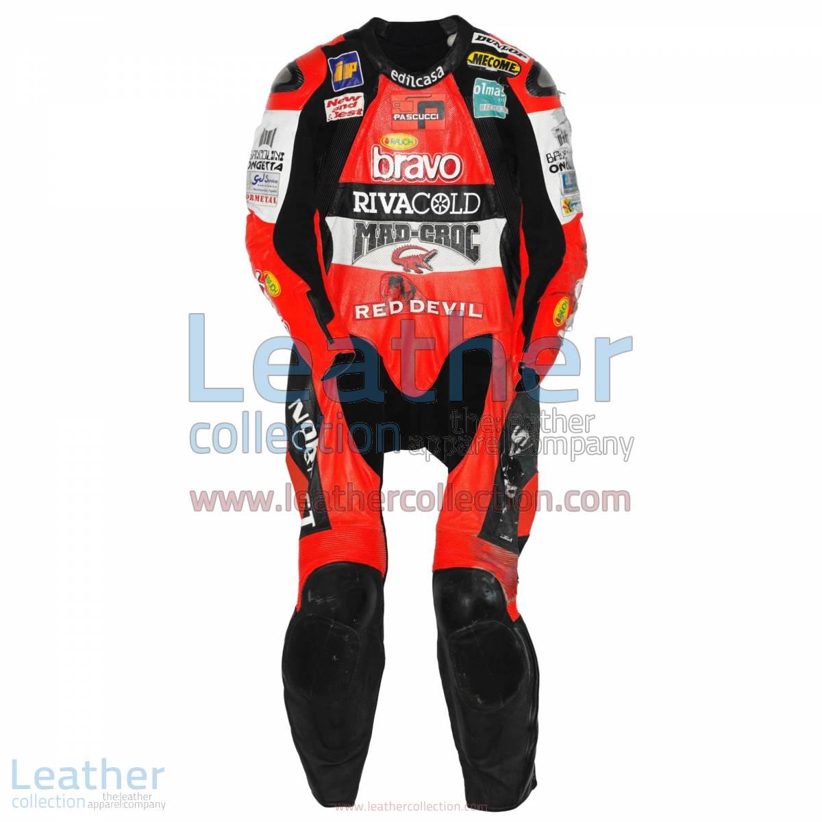 Marco Simoncelli Aprilia GP 2004 Leathers   marco simoncelli