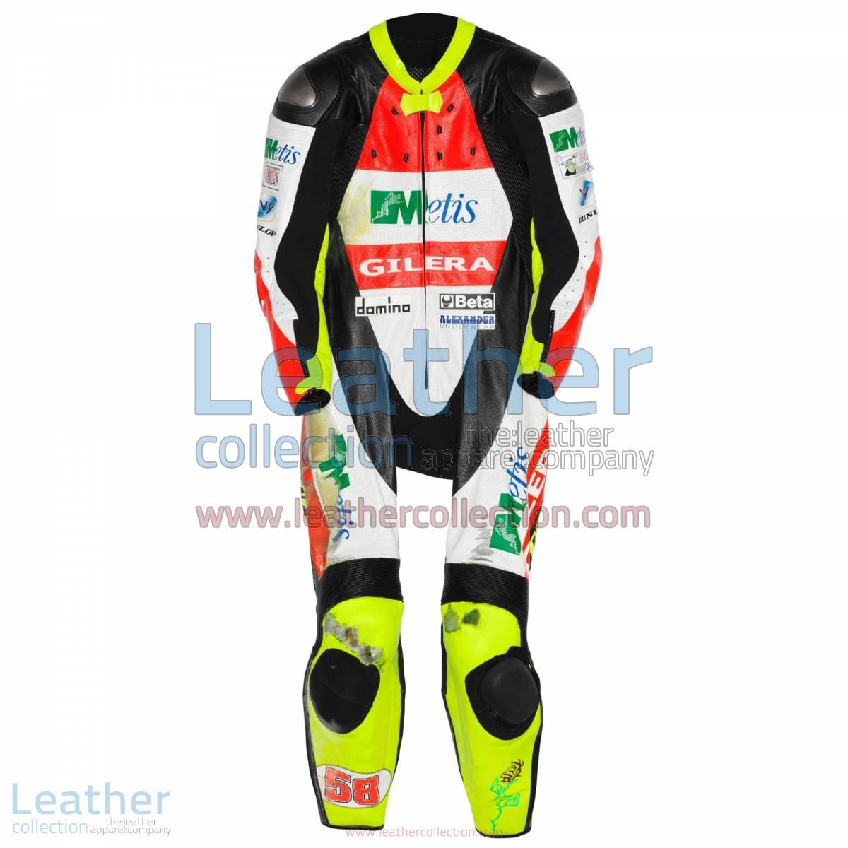 Marco Simoncelli Gilera GP 2007 Leather Suit   leather suit
