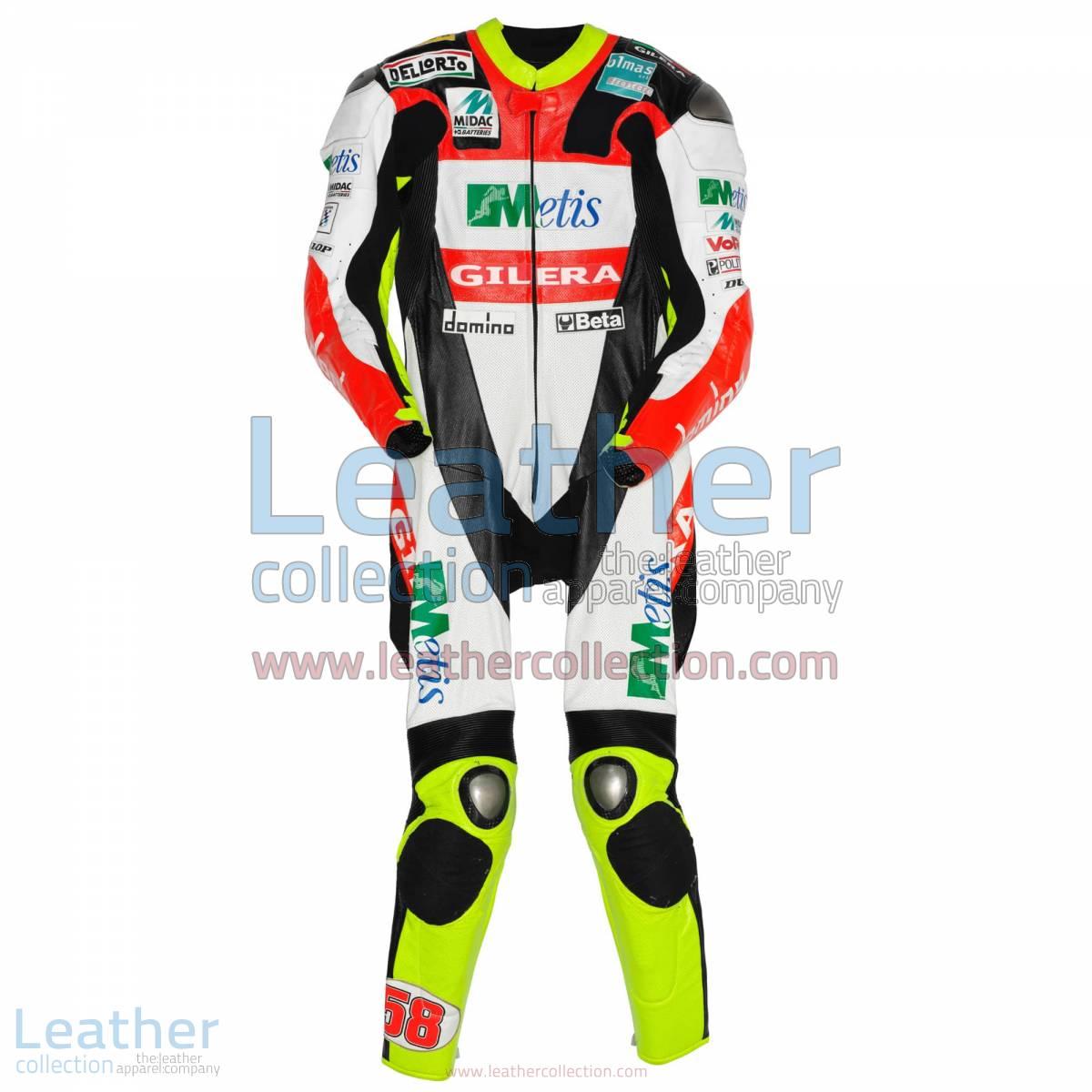 Marco Simoncelli Gilera GP 2008 Leathers | marco simoncelli leathers