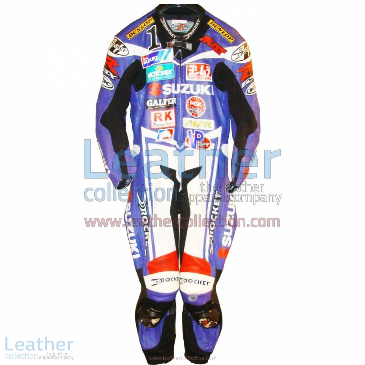 Mat Mladin Suzuki AMA 2005 Leather Suit   suzuki leather suit